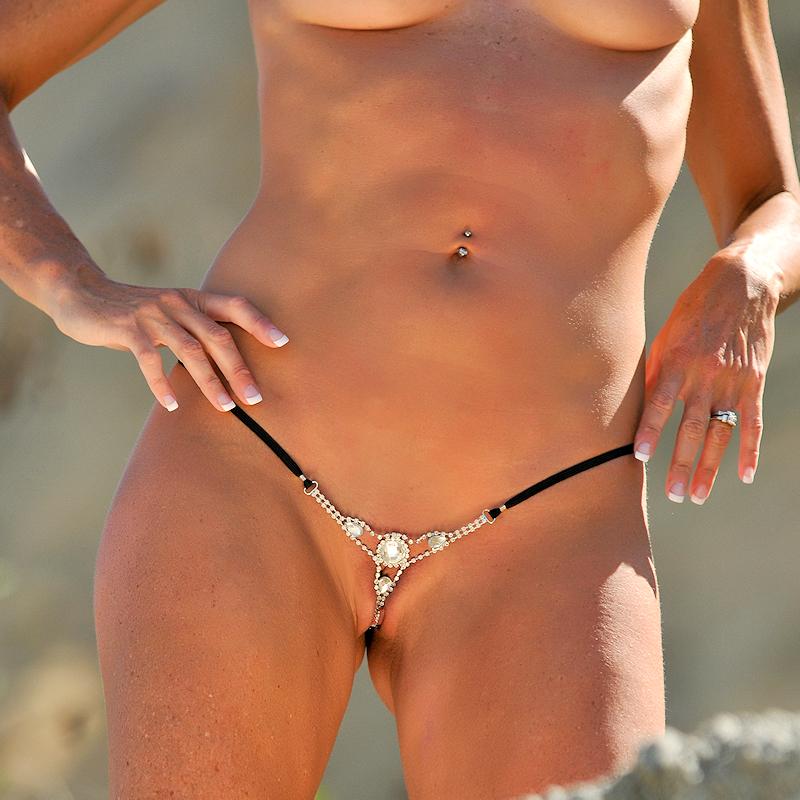 Soft voyeur string bikinis #14
