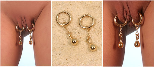 Gold Labia Rings